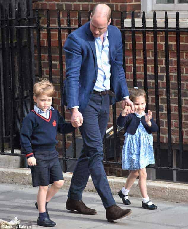 George e Charlotte serão pajem e daminha no casamento do tio