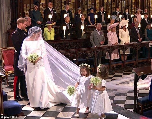 Casamento real de Meghan Markle com o príncipe Harry e as daminhas