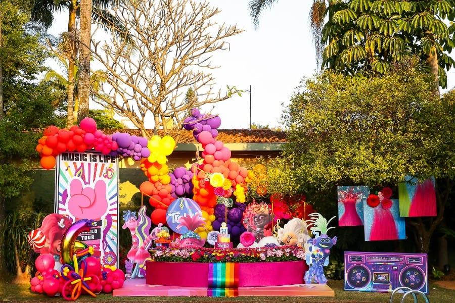 Decoração da festa de seis anos de Valentina