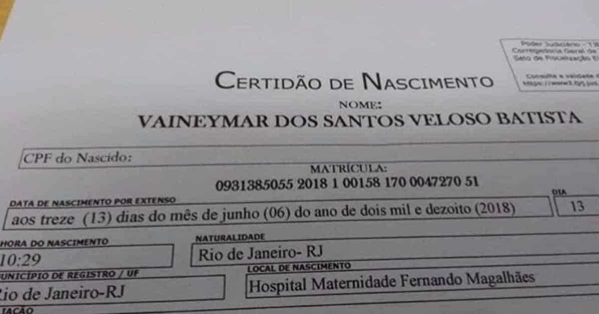 Essa falsa certidão de nascimento que agitou a web