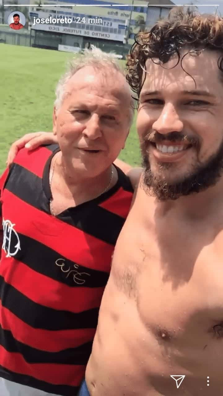 Do chá de fraldas de José Loreto o ex-jogador Zico também participou