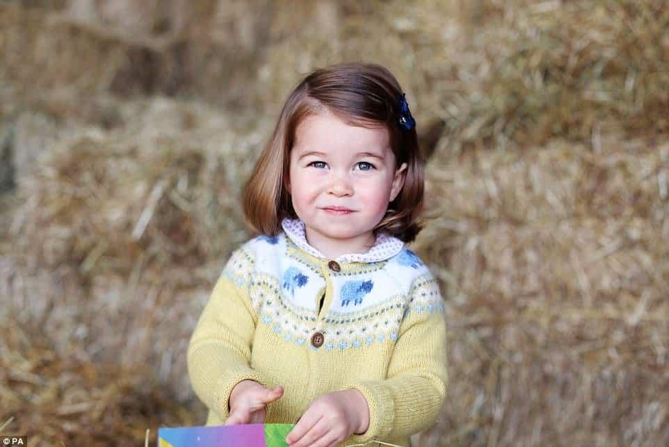 A princesa Charlotte cresceu