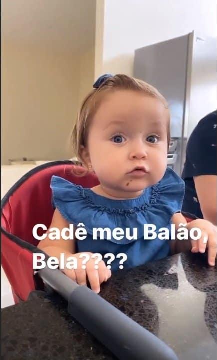 Bebê de Claudia Leitte com bolo