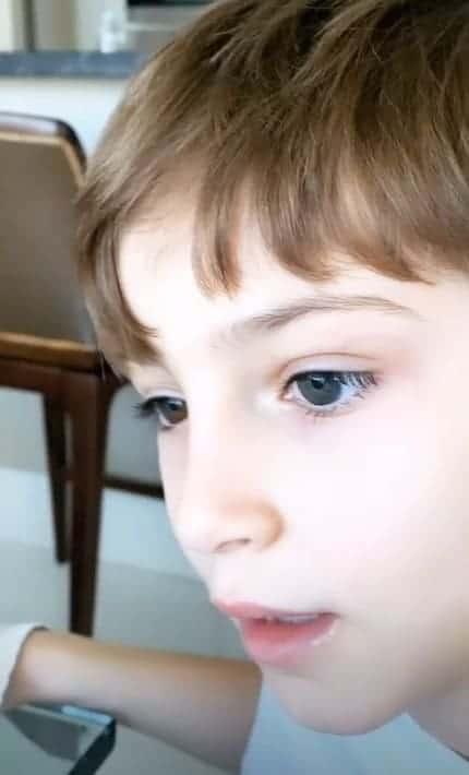 Claudia Leitte revelou heterocromia de seu filho Rafael