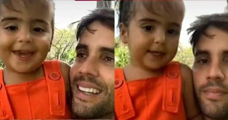 Daniel Cady com sua pequena Marina