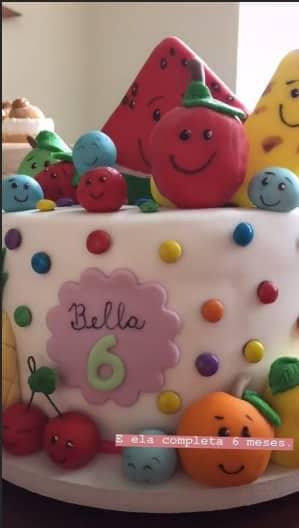 O bolo da festa da Bella