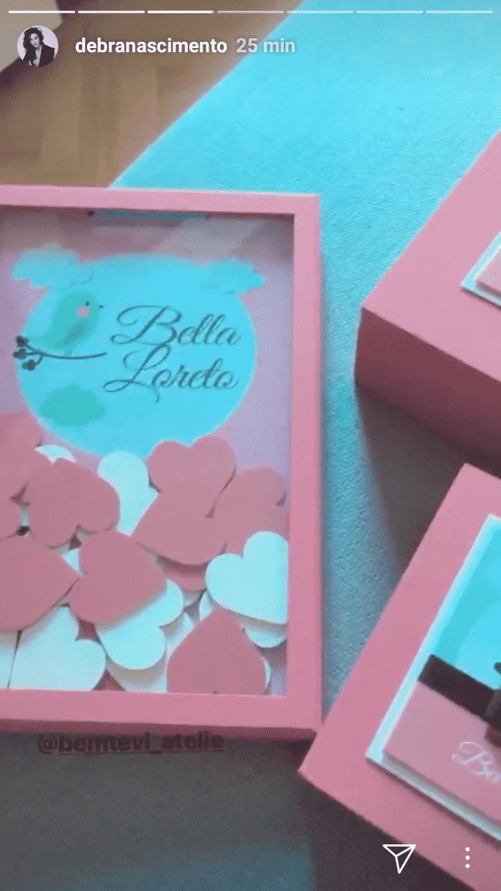 Débora Nascimento preparou uma bela recordação para a filha