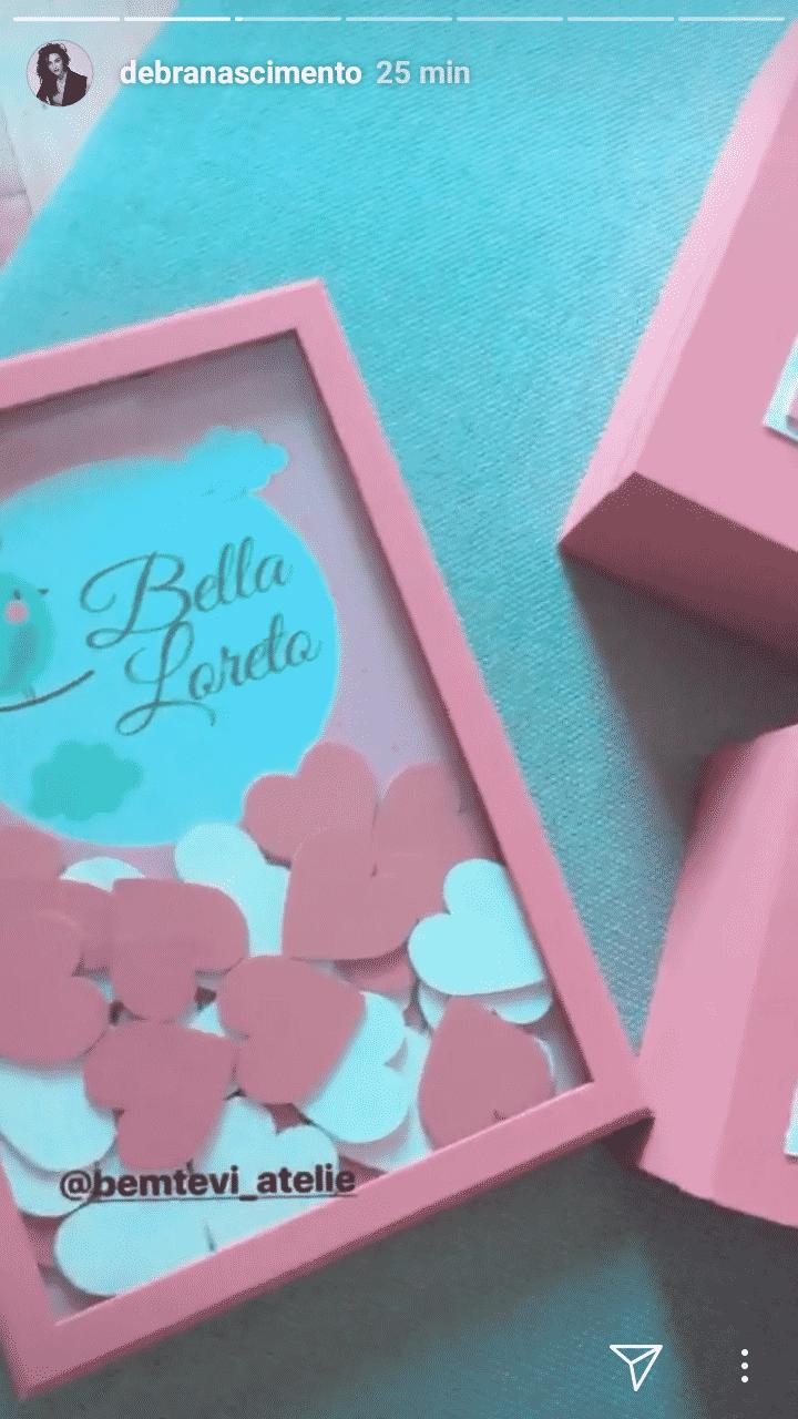 O porta maternidade que Débora Nascimento escolheu
