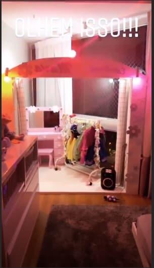 Deborah Secco compartilhou essa imagem do quarto reformado de sua filha Maria Flor.