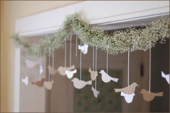 Use mosquitinhos para decorar seu chá de fraldas