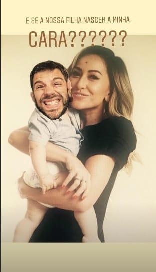 O ator Duda Nagle publicou uma montagem divertida de como seria a cara de seu filho com Sabrina Sato