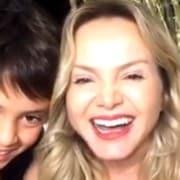 Eliana comemorou o aniversário de seu filho Arthur