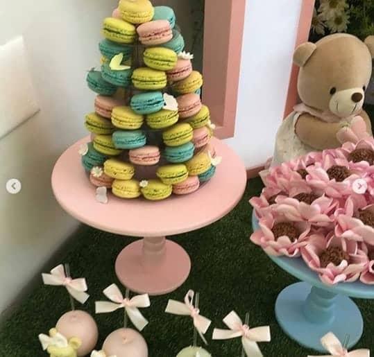 A decoração é um show a parte na festa de um ano de Manuela, filha da Eliana