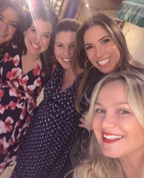 As três filhas de Silvio Santos, Patrícia, Daniela e Renata e a apresentadora Eliana