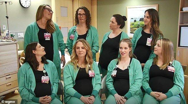 Os bebês das enfermeiras devem nascer em datas próximas