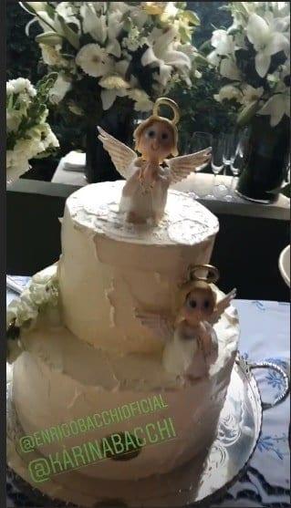 Veja como foi o batizado do filho de Karina Bacchi