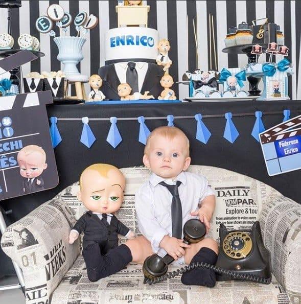 Festa de sete meses do filho de Karina Bacchi