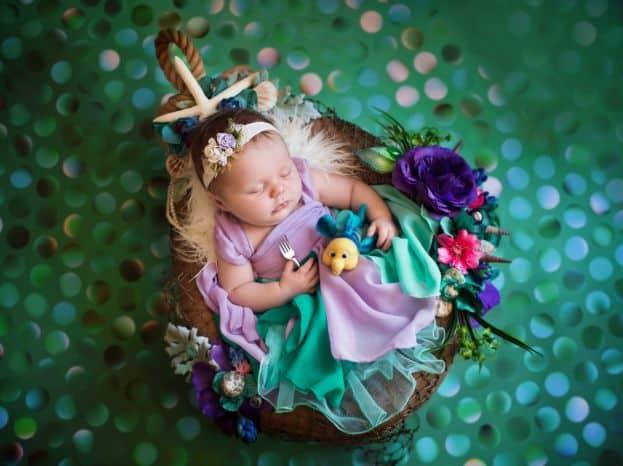Veja as lindas fotos de recém-nascidas com fantasias da Disney