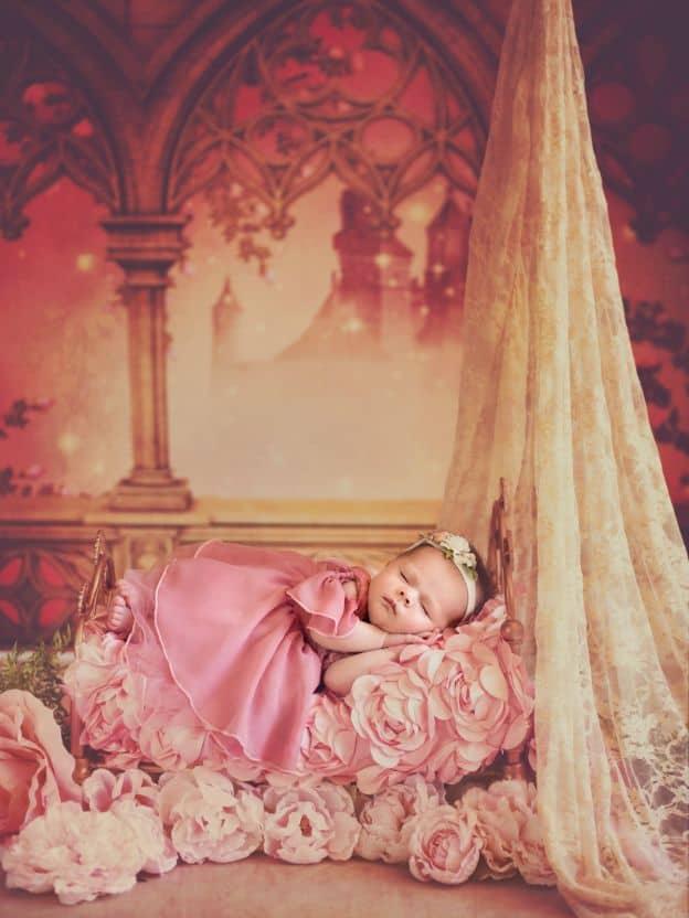Ensaio de bebês vestidas de princesas