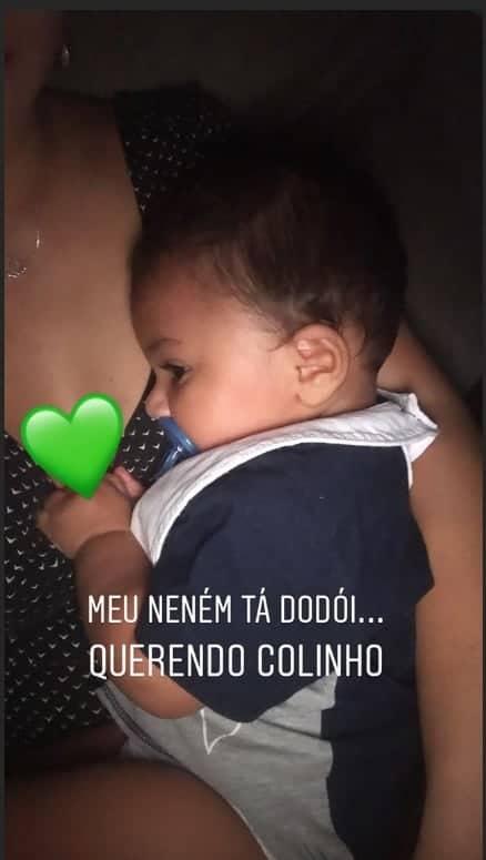 Mãe do filho de Felipe Araújo compartilhou esta foto do menino