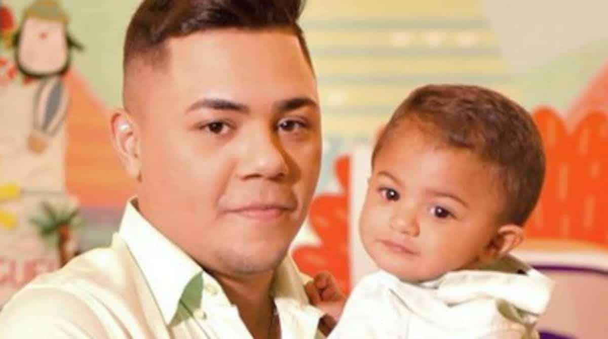 Felipe Araújo no aniversário de um ano do filho
