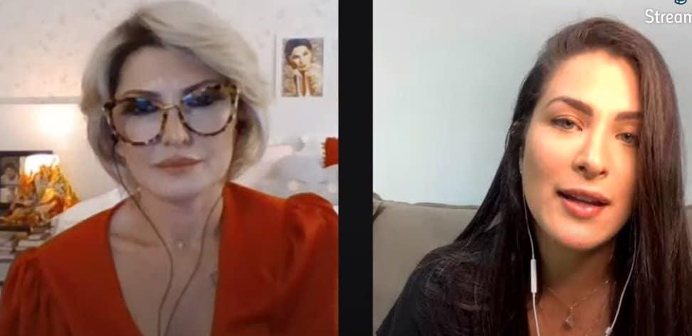 Conversa de Caroline Marchezi sobre Felipe Araújo para Antônia Fontenelle