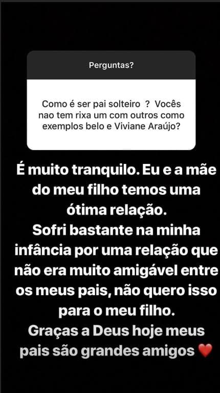 Felipe Araújo compartilhou sobre seu relacionamento com a mãe de seu filho