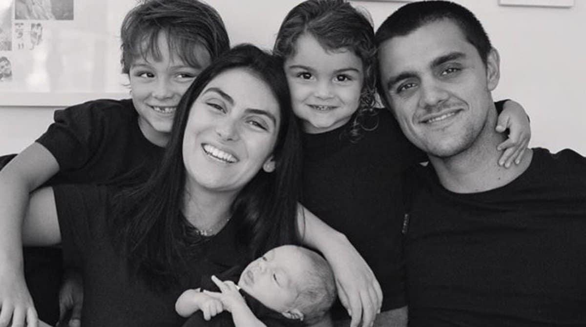 Filho de Felipe Simas passou por uma crise de choro de medo