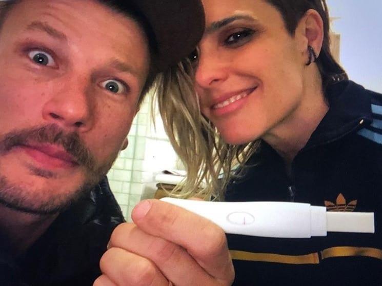 Fernanda Lima e Rodrigo Hilbert ao descobrir a gravidez