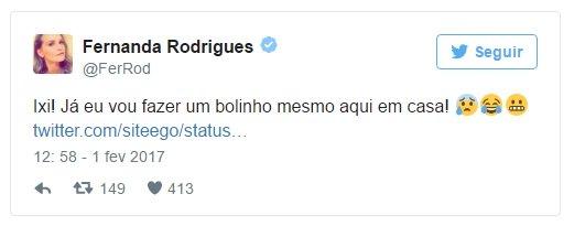 A atriz Fernanda Rodrigues fez essa publicação