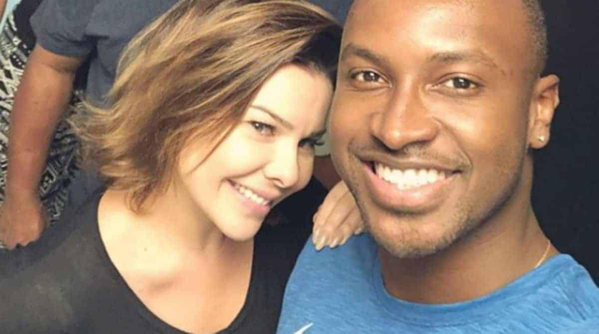 Fernanda de Souza com Thiaguinho