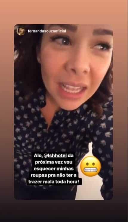 Fernanda Souza explicou a visita aos fãs