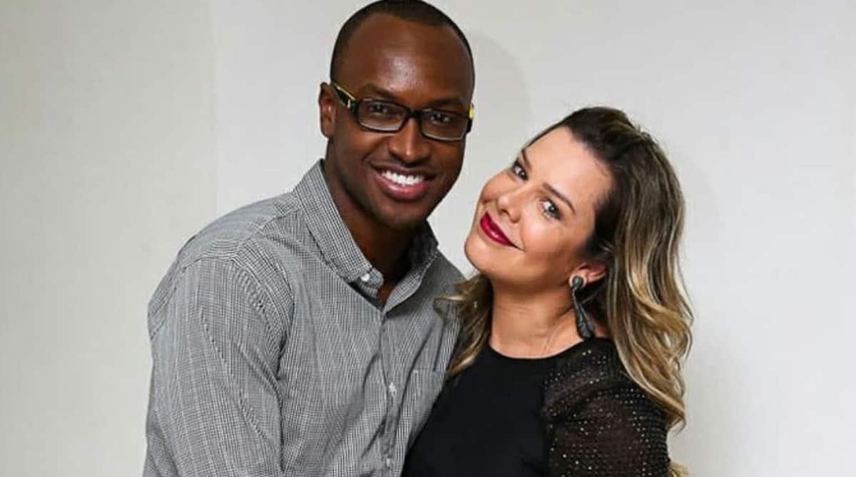 O casal Thiaguinho e Fernanda Souza