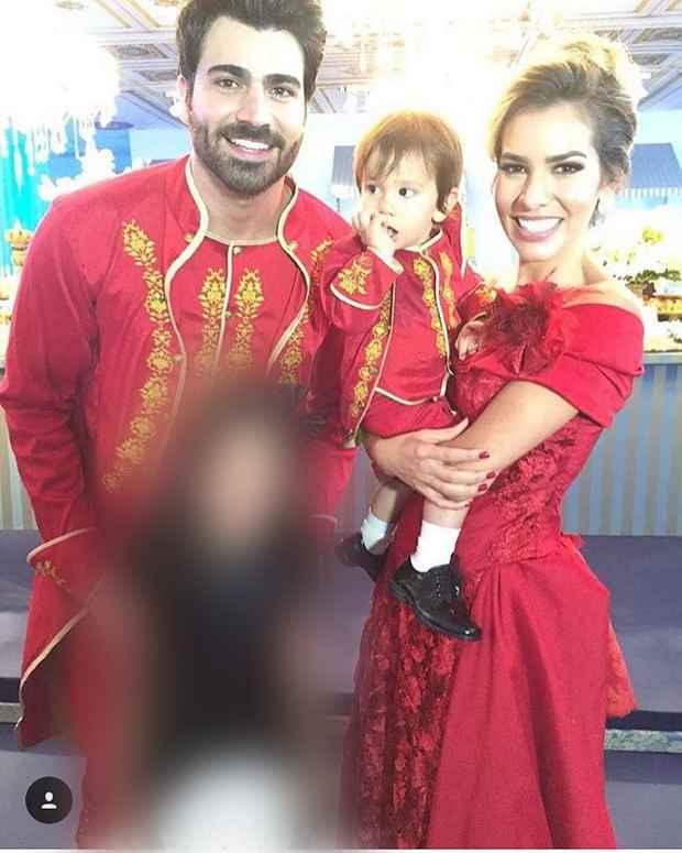 Adriana Sant'Anna e Rodrigão com o pequeno Rodrigo
