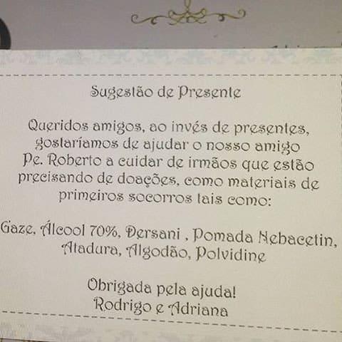 Convite da festa do filho de Adriana Sant'Anna e Rodrigão