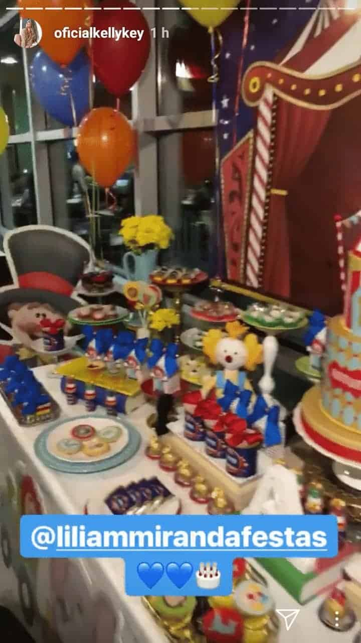 Artur fez um ano e a mamãe cantora Kelly Key fez uma bela festa