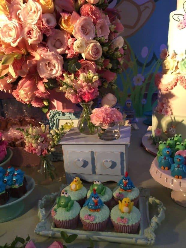Cupcakes da festa da Maria Flor