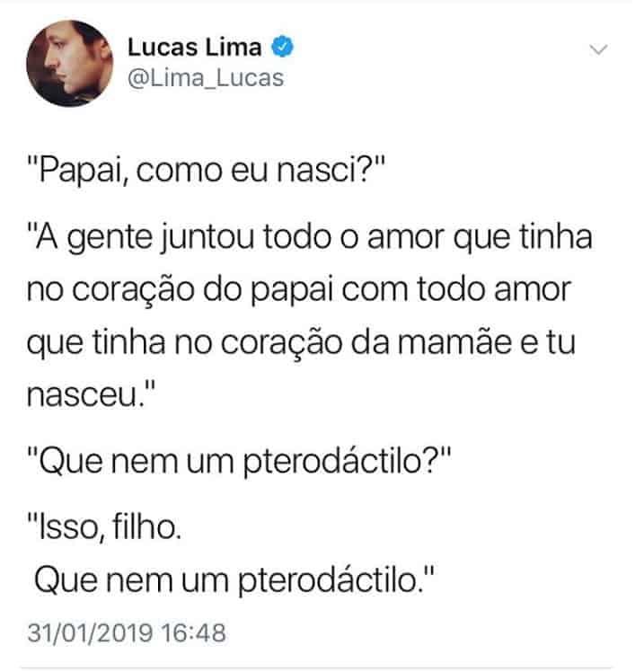 Publicação que Lucas Lima teve com seu filho com a cantora Sandy