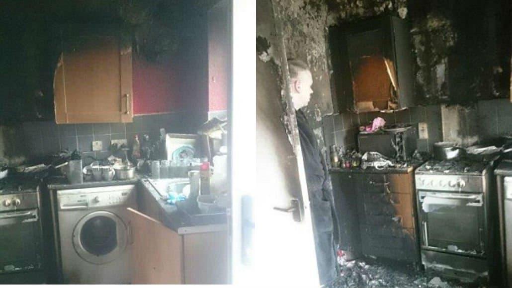 Mãe invade casa em chamas e salva a vida de seu bebê