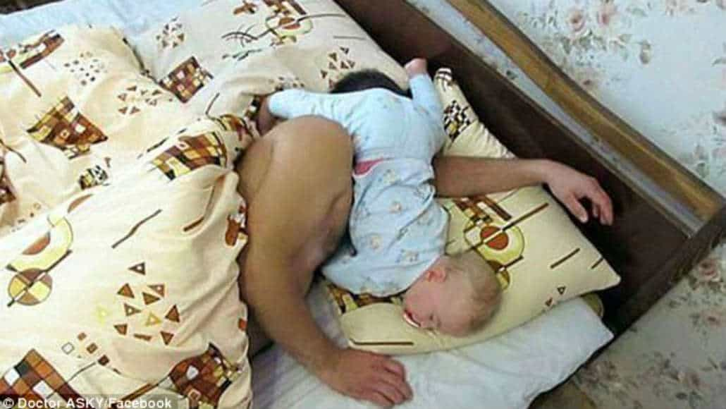 Hora de dormir com o bebê
