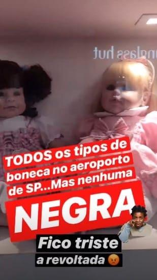 Giovanna Ewbank tem dificuldade de encontrar bonecas negras