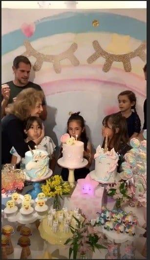 A bela mesa das festa das filhas da atriz Giovanna Antonelli