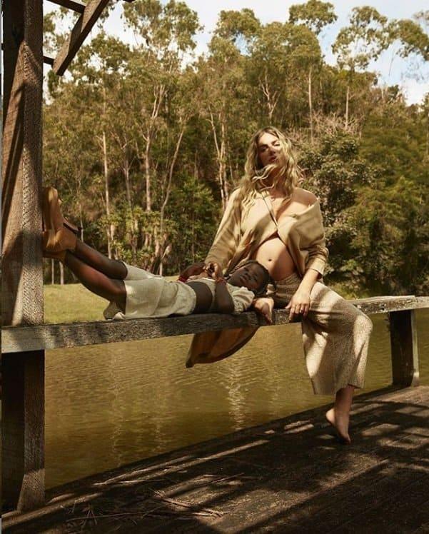 Giovanna Ewbank no ensaio gestante com sua filha