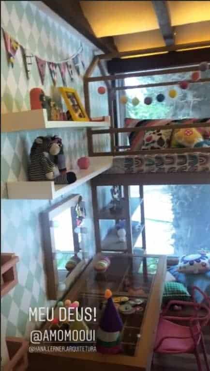 Os pais Giovanna Ewbank e Bruno Gagliasso publicaram foto do quarto da filha Titi