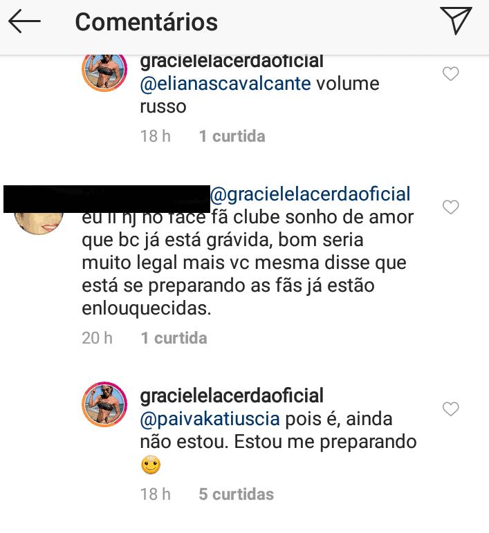 Veja o comentário de Graciele Lacerda