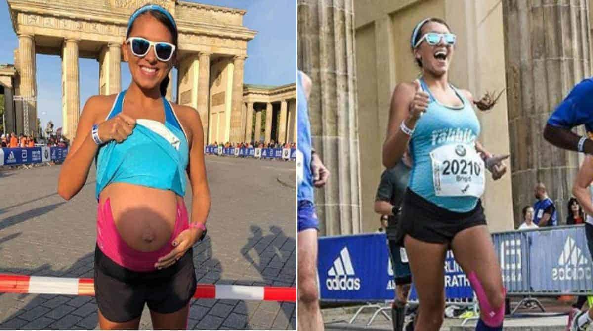 Saiba mais sobre essa mamãe que correu uma maratona com um barrigão
