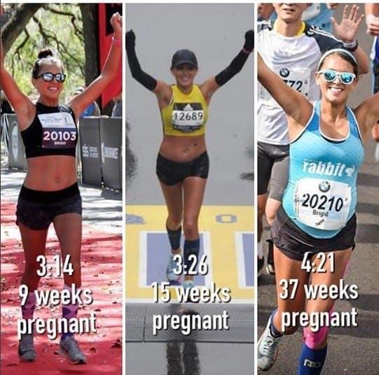 A mamãe correu três maratonas