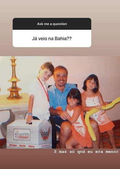 Gugu Liberato com os filhos em foto inédita