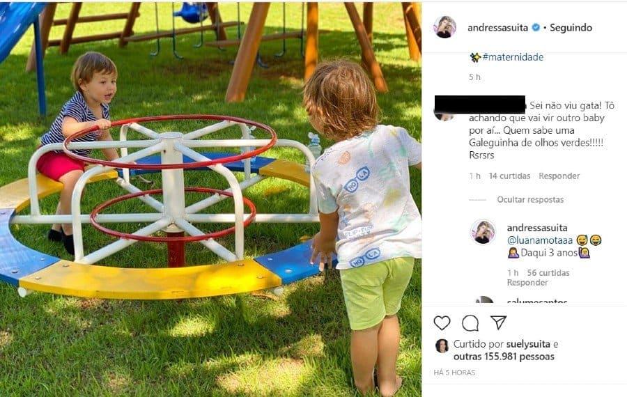 Responde de Andressa Suita sobre se está grávida de Gusttavo Lima