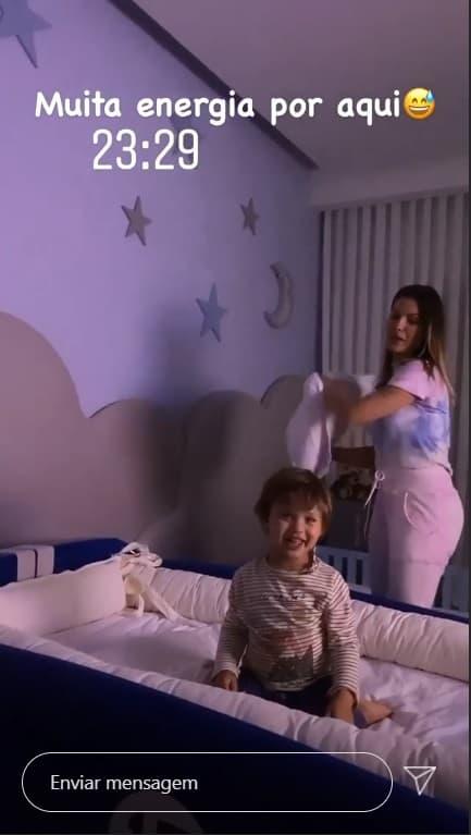 Bebê caçula de Gusttavo Lima no quarto novo